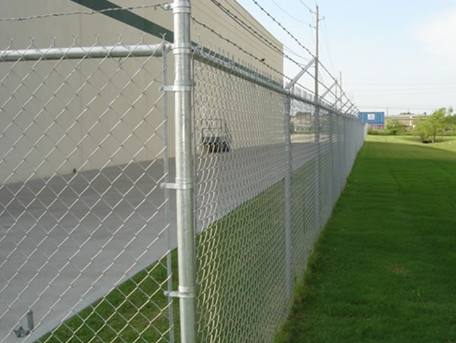Galvanized diamond wire mesh stainless steel chain link fence