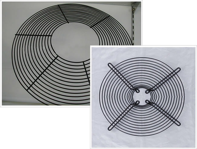 Welded Galvanized Steel Wire Grid Guards for Ventilation