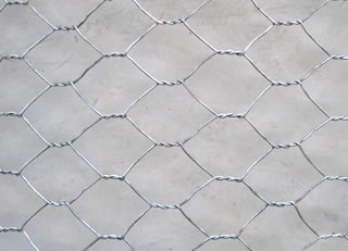 Hexagonal Hole Twisted Woven Mesh with Silver Zinc Plating
