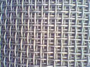 Square Hole Woven Wire Mesh with Zinc Plating